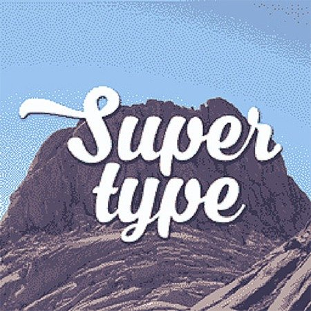 Super Type | Metal Plate Pictures