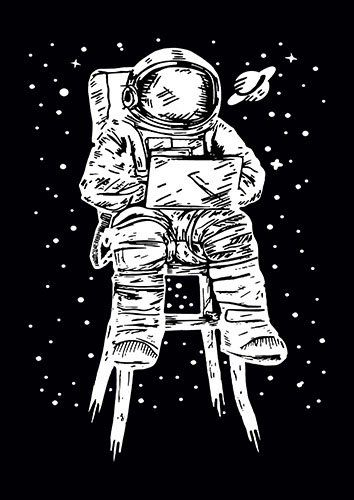 Astronaut chair space us - From £17.50 | Metal Plate Pictures