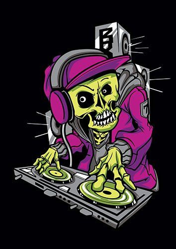DJ Skull music us - From £17.50 | Metal Plate Pictures