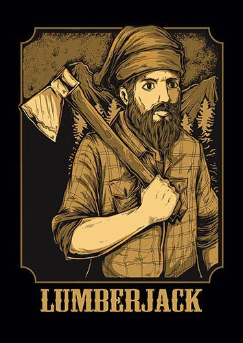 Lumber jack us - From £17.50 | Metal Plate Pictures