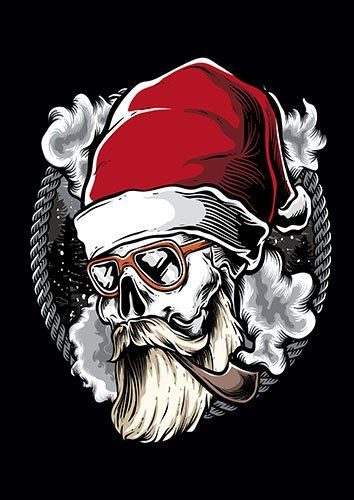 Hipster Santa TA - From £17.50 | Metal Plate Pictures