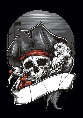 Pirate TA - From £17.50 | Metal Plate Pictures
