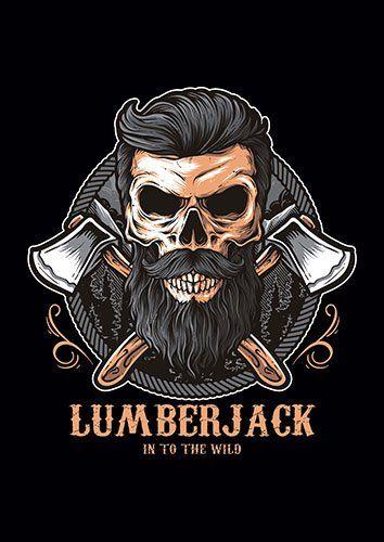 Skull Lumberjack TA - From £17.50 | Metal Plate Pictures