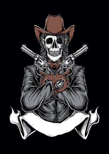 Wildwest Cowboy TA - From £17.50 | Metal Plate Pictures