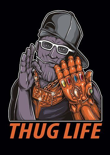 Thug Life TA - From £17.50 | Metal Plate Pictures