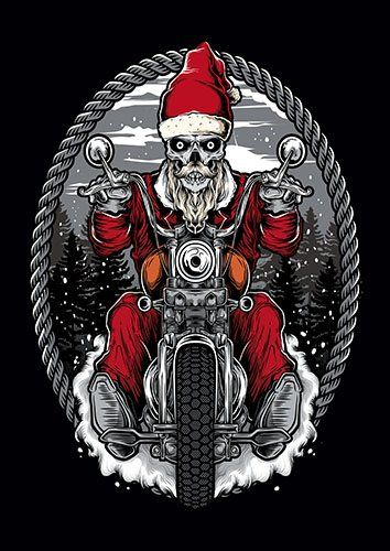 Ride All The Ways Santa TA - From £17.50 | Metal Plate Pictures