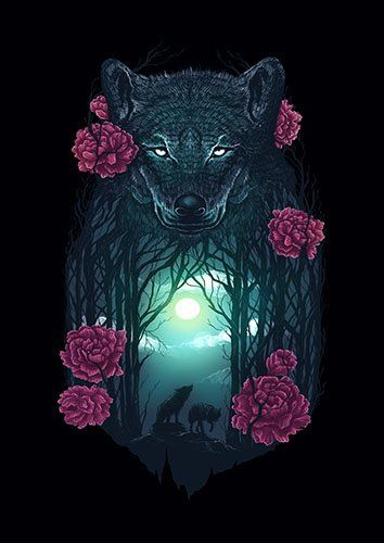Running with the wolves lou - From £17.50 | Metal Plate Pictures