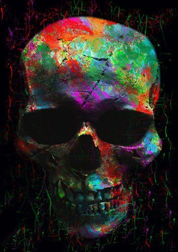 Skull new lou - From £17.50 | Metal Plate Pictures