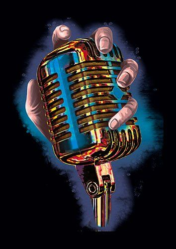 Open mic lou - From £17.50 | Metal Plate Pictures