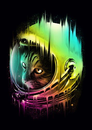 The Intergalactic wanderer lou - From £17.50 | Metal Plate Pictures