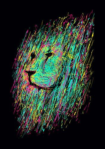 Unfinished lion lou - From £17.50 | Metal Plate Pictures