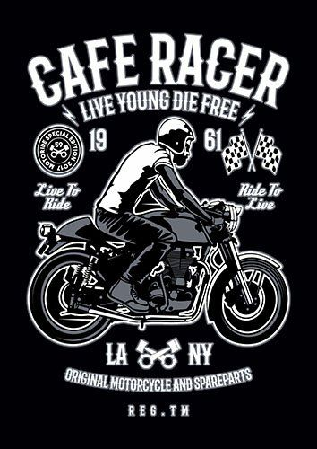 Cafe racer live young nad - From £17.50 | Metal Plate Pictures