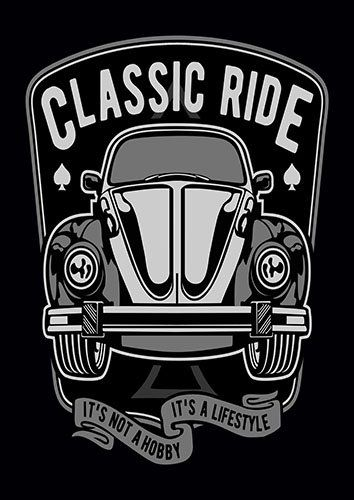 Classic car ride nad - From £17.50 | Metal Plate Pictures
