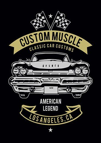 Custom muscle nad - From £17.50 | Metal Plate Pictures