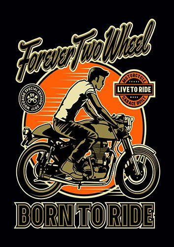Forever two wheels nad - From £17.50 | Metal Plate Pictures