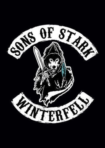 Sons Of Stark, Sandy\Brown\Blue\Mix colour, X-Large A1 24x36Inch size - From £17.50 | Metal Plate Pictures