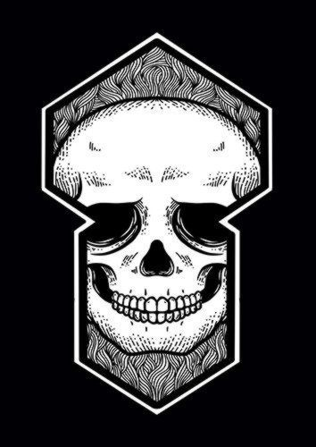 Hole Of Skull, Sandy\Brown\Blue\Mix colour, X-Large A1 24x36Inch size - From £17.50 | Metal Plate Pictures