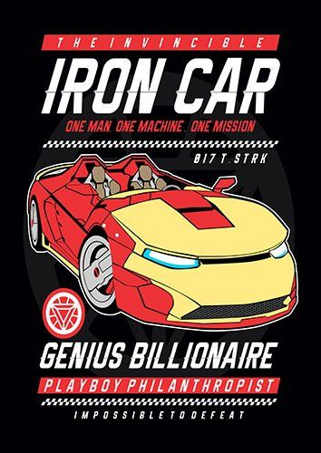 Iron car nad - From £20.50 | Metal Plate Pictures