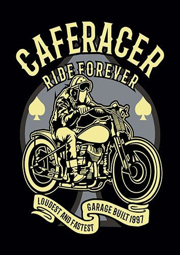Cafe racer ride forever nad - From £17.50 | Metal Plate Pictures