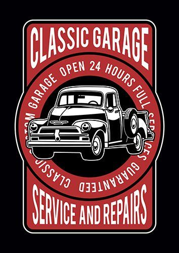 Classic garage nad - From £17.50 | Metal Plate Pictures