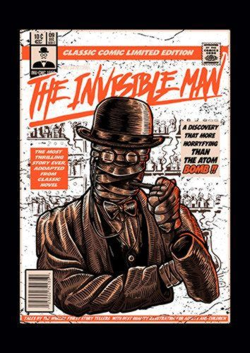 The Invisible Man E, Sandy\Brown\Blue\Mix colour, X-Large A1 24x36Inch size - From £17.50 | Metal Plate Pictures