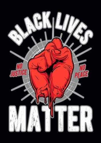 Black Lives Matters, Sandy\Brown\Blue\Mix colour, X-Large A1 24x36Inch size - From £17.50 | Metal Plate Pictures