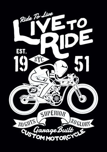 Live to ride nad - From £17.50 | Metal Plate Pictures