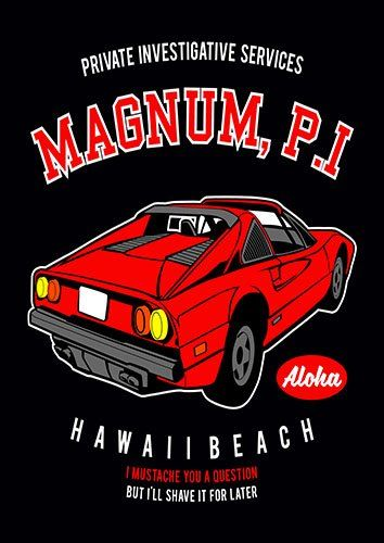 Magnum P I nad - From £17.50   Metal Plate Pictures