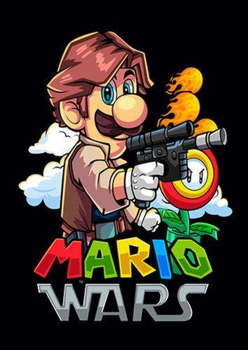 Mario Wars Solo Dlo, Sandy\Brown\Blue\Mix colour, X-Large A1 24x36Inch size - From £17.50 | Metal Plate Pictures