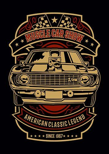 Muscle car show nad - From £17.50 | Metal Plate Pictures