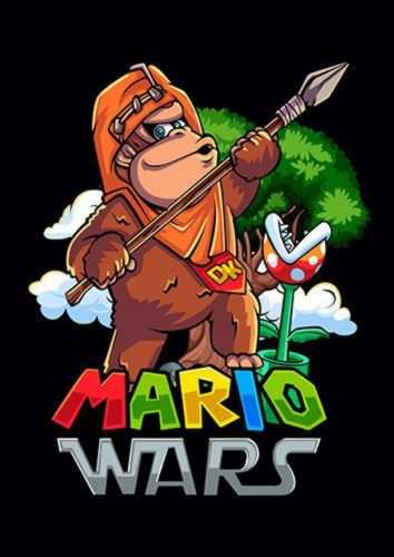 Mario Wars Ewok Dlo, Sandy\Brown\Blue\Mix colour, X-Large A1 24x36Inch size - From £17.50 | Metal Plate Pictures