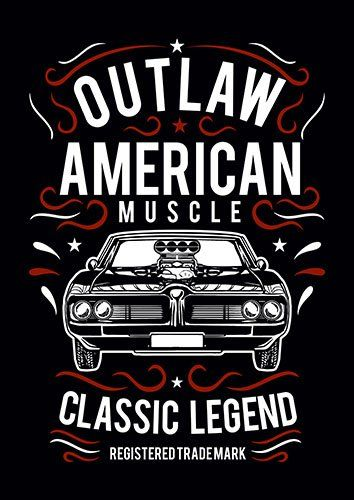 Outlaw american muscle nad - From £17.50 | Metal Plate Pictures
