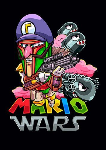 Mario Wars Boba Dlo, Sandy\Brown\Blue\Mix colour, X-Large A1 24x36Inch size - From £17.50 | Metal Plate Pictures