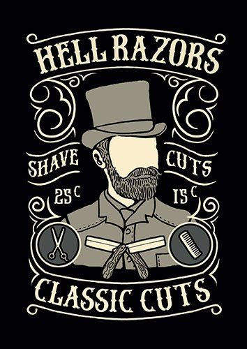 Shave and cuts nad - From £17.50   Metal Plate Pictures