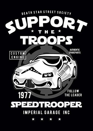 Speed trooper nad - From £17.50 | Metal Plate Pictures