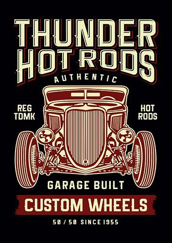 Thunder hot rods nad - From £17.50 | Metal Plate Pictures