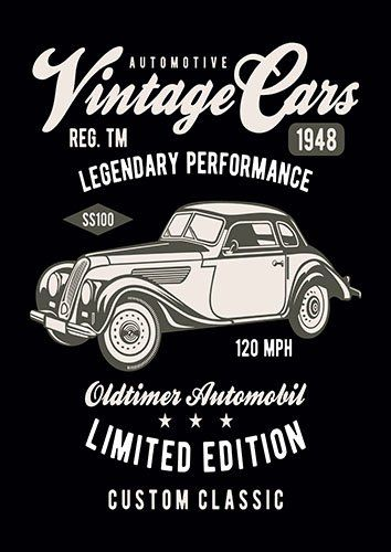 Vintage car nad - From £17.50 | Metal Plate Pictures