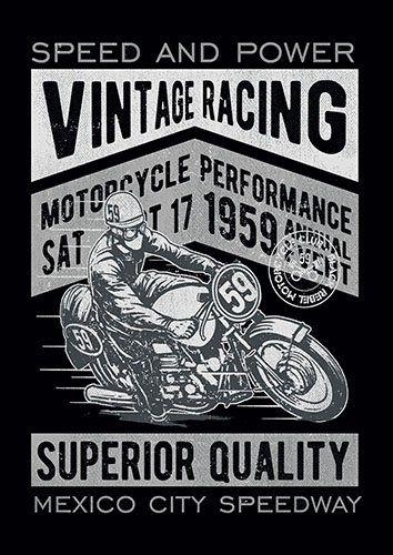 Vintage racing bike nad - From £17.50 | Metal Plate Pictures