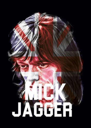 Mick Jagger Singer England Music 114 Rock, Sandy\Brown\Blue\Mix colour, X-Large A1 24x36Inch size - From £17.50 | Metal Plate Pictures