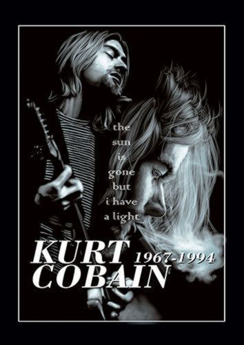 Kurt Kobain Music Singer 114 Rock, Sandy\Brown\Blue\Mix colour, X-Large A1 24x36Inch size - From £17.50 | Metal Plate Pictures