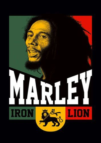Iron Lion Bob Marley Reggae Music 114 Rock, Sandy\Brown\Blue\Mix colour, X-Large A1 24x36Inch size - From £17.50 | Metal Plate Pictures