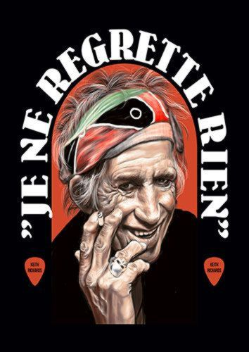 Keith Richards Music Legend 114 Rock, Sandy\Brown\Blue\Mix colour, X-Large A1 24x36Inch size - From £17.50 | Metal Plate Pictures
