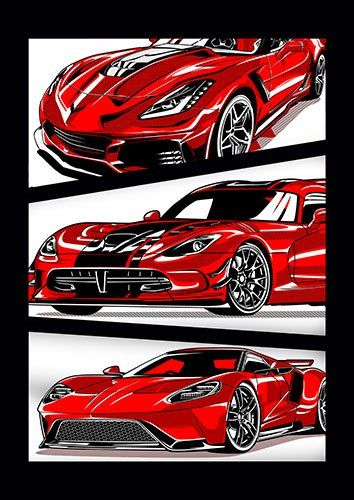 American Super Car ARDH - From £17.50 | Metal Plate Pictures
