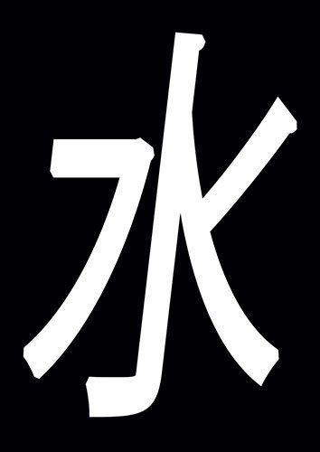 Water Chinese Symbol Asian China Calligraphy - From £17.50 | Metal Plate Pictures