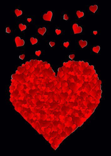 All true red hearts love - From £17.50 | Metal Plate Pictures