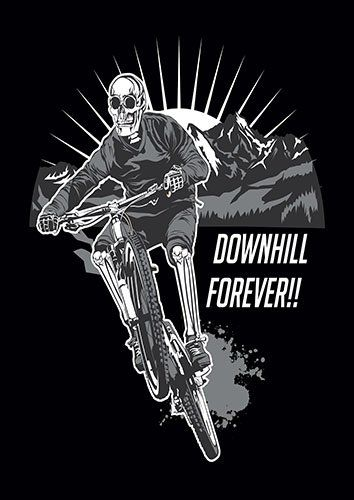 Downhill forever BB - From £17.50 | Metal Plate Pictures