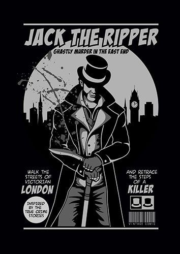 Jack The Ripper comic vintage BB - From £17.50 | Metal Plate Pictures