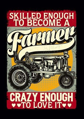 Farmer Tractor CK - From £17.50 | Metal Plate Pictures
