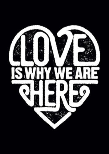Love Is Why We Are Here 2 Typo CK - From £17.50 | Metal Plate Pictures