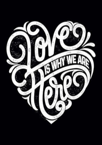 Love Is why we Are here Typo CK - From £17.50 | Metal Plate Pictures